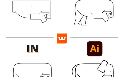 How to make an elephant icon in Adobe Illustrator
