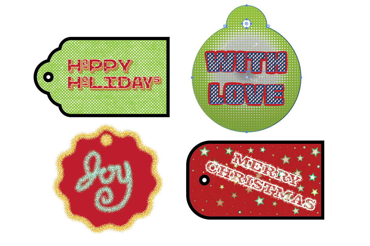 Making gift tags with our FREE resource packs